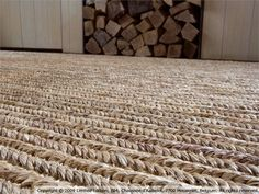 Solid-color natural fiber rug ABACA by LIMITED EDITION