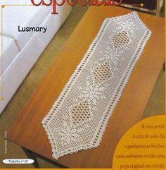 3 Patrones de Caminos de Mesa en Crochet Filet | Crochet y Dos agujas
