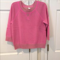 J. Crew Cashmere Sweater J. Crew Cashmere Sweater Beautiful Hot Pink with ¾ Sleeves Size Medium Gently worn but in Excellent Condition J. Crew Sweaters Crew & Scoop Necks