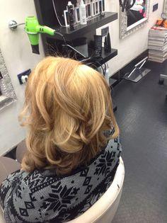Blond waves hair fatti mezz'ora fa :-)