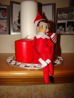 This page contains Elf on the Shelf ideas. Having an Elf on the Shelf is a fun tradition that many families have started to encourage good behavior around Christmas time and to have a few laughs too. He tends to get in a little bit of trouble when he hangs around the house though!