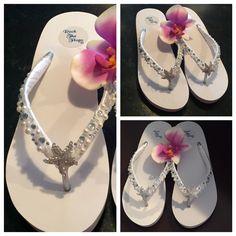 dbe09c20d2d Ultimate Bling Princess Crown Wedge Flip Flops Sandals Bride Bridesmaid  Wedding Sandals