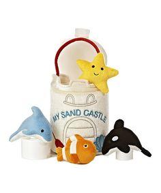 $14.99 marked down from $25! 'My Sand Castle' Plush Toy Set #zulily! #zulilyfinds