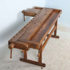 Antique Carpenter's Workbench, Sweden Circa 1890 at 1stdibs Sofa Tables, Dining Table, Cabinet Makers, Building Materials, Outdoor Furniture, Outdoor Decor, Carpenter, Sweden, Rustic