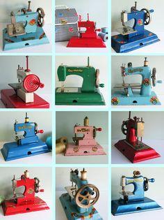 Toy Sewing Machines. Ah!  So cute!