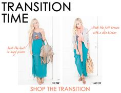 transition summer dresses to fall.  love the ankle boots with the maxi.