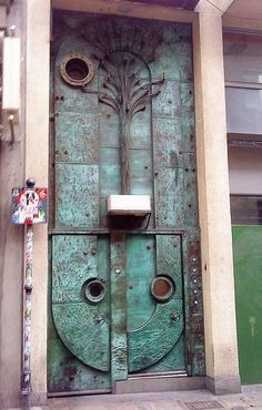 Decorative metal door in Dublin, Ireland Cool Doors, Unique Doors, Porches, Porte Cochere, When One Door Closes, Knobs And Knockers, Door Gate, Grand Entrance, Modern Entrance