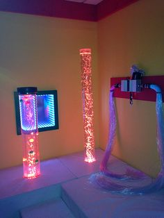 A Snoezelen room is a controlled multi-sensory environment (MSE); a therapy for people with Autism or developmental disabilities.