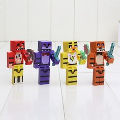 $ 9.00 + Free International Shipping - Buy Online http://www.harrytoystore.com/shop/toys-games/action-figures/minecraft-4-fnaf-foxy-chica-bonnie-freddy-action-figures/