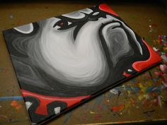 University of Georgia Bulldogs painting sports art by crockerart Football Doodle, Diy Canvas, Canvas Art, Christmas Presents For Boys, University Of Georgia, Sports Art, Sports Signs, Georgia Bulldogs, Gaming