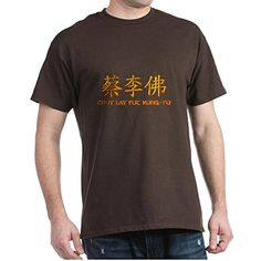 CafePress  Choy Lay Fut Caligraphy  100 Cotton TShirt Crew Neck Soft and Comfortable Classic Tee with Unique Design * You can find more details by visiting the image link.