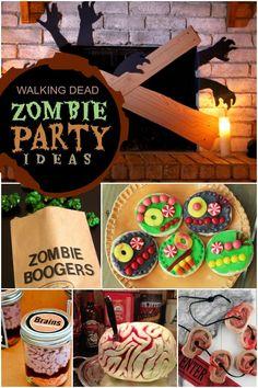 Walking Dead Zombie Party Boy's Birthday Ideas
