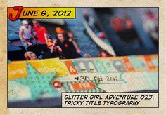 Glitter Girl and the tricky title typography