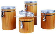 Cylinder Shape Airtight Bamboo Wood Canister With Flip Up Box Lid On Jar Top And Hasp Lock On Bottle Top Of Tea Storage Food Bin - Buy Airtight Canister,Bamboo Canister,Wood Canister Product on Alibaba.com
