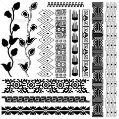 Ancient American pattern - Backgrounds Decorative