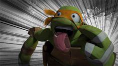Nyeh (gif) Tmnt 2012, Tmnt Mikey, Teenage Mutant Ninja Turtles, Picture Video, Otaku, Theatre, Dinosaur Stuffed Animal, Gifs, Nerd