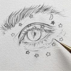 55 Cool Easy Things to Draw in Your Sketchbook drawings doodles Things to draw doodles bujo ideas drawing eyes - Easy Pencil Drawings, Easy People Drawings, Pencil Sketch Drawing, Drawing Eyes, Sketchbook Drawings, Drawing People, Sketch Art, Pencil Art, Doodle Drawings