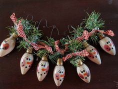 All things Christmas Primitive Snowman Ornament Hand Painted Primitive Snowmen Christmas Light Bulbs, Silver Christmas, Rustic Christmas, Christmas Fun, Father Christmas, Primitive Country Christmas, Vintage Christmas, Christmas Ornament Crafts, Holiday Crafts