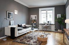Living room with grey walls Room, Interior, Dream Decor, Apartment Interior, Grey Walls Living Room, Home Decor, House Interior, Living Room Grey, Home Interior Design
