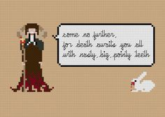Pixel People Quoteables Tim the Enchanter by weelittlestitches