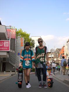 Harajuku street fashion | STYLE from TOKYO | street fashion based in japan  空を大きく入れて撮るのイイナ・・・。