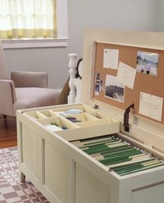 clever...Instant office in a chest