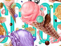 Ice Cream Illustration Poster (client: Scoop Ice Cream Parlor)