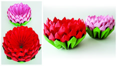 Lotus In Origami Style Recycled Paper Crafts, Origami Flowers, Paper Art, Lotus, Poppies, Arts And Crafts, Scrapbook, Creative, Cards