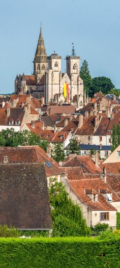 Village of Semur-en-Auxois in France