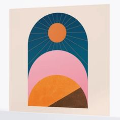 "The best wall murals you can buy: ""Abstraction_Sunshine_Minimalism_001"" Wall Mural, Society6 ($225)"