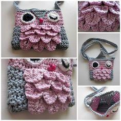 Crochet-Owl bag  NO PATTERN - INSPIRATION ONLY