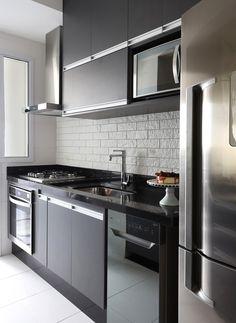 Kitchen Room Design, Modern Kitchen Design, Kitchen Layout, Home Decor Kitchen, Kitchen Living, Interior Design Kitchen, Kitchen Furniture, Home Kitchens, Modern Apartment Design