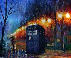TARDIS in the rain.