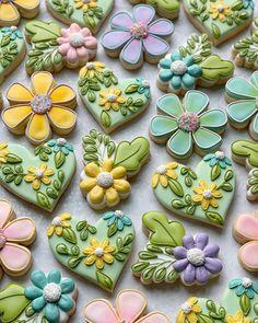 Mother's Day Cookies, Summer Cookies, Iced Cookies, Cut Out Cookies, Easter Cookies, Cupcake Cookies, Cupcakes, Royal Icing Decorated Cookies, Royal Icing Cookies Recipe