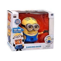 Minions Dancing Dave Action Figure Talking Singing Grooving Sound Activated