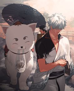 Sadaharu and Gintoki