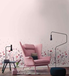 Our custom designed wallpaper features a dreamy meadow with wild flowers that will suit any girl's room. This floral motif is available in three colors. Floral Motif, Designer Wallpaper, Pattern Wallpaper, Wild Flowers, Custom Design, Room, Furniture, Suit, Patterns