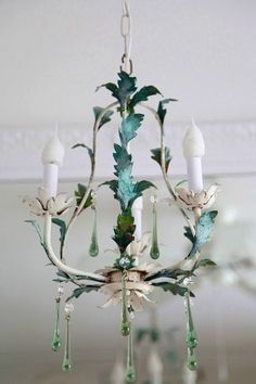 luv the aqua accent. do this to old fixture.
