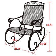 Mainstays Jefferson Wrought Iron Porch Rocking Chair