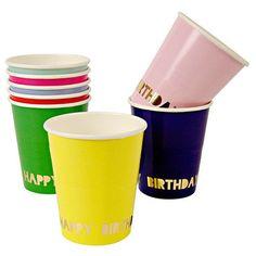 Happy Birthday Party Cups 8Set