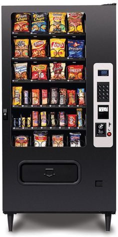Within this article, the essential reasons of having a snack vending machine have been discussed in an elaborate way.Every organization tries their level best to maintain a positive and healthy work. Drink Vending Machines, Vending Machines For Sale, Doritos, Price Labels, Black Exterior, Exterior Design, Break Room, Steel Doors, Card Reader