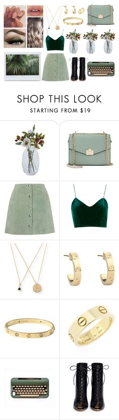 """""""Sage and a collection of other greens"""" by afbdzjm ❤ liked on Polyvore featuring Jennifer Lopez, Topshop, Aéropostale, Cartier and Gianvito Rossi"""