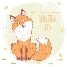 Cute Fox on Behance ★ Find more at http://www.pinterest.com/competing/