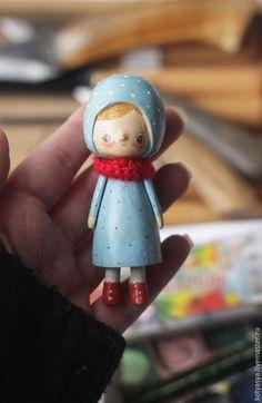 Человечки ручной работы. деревянная кукла в голубом. Ася Катечкина. Интернет-магазин Ярмарка Мастеров. Кукла из дерева, коллекционная кукла