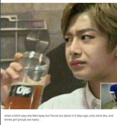 Like bitch waaaaat Love hyungwon face btw meme king