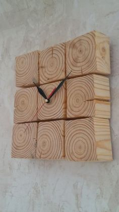 From environmental materials: wood – pine (solid), coating – natural oil. Included: clock with a mechanism, hands, wall mount. Wall Clock Wooden, Wooden Art, Diy Clock, Clock Decor, Cool Clocks, Small Wood Projects, Deco Originale, Wall Clock Design, Wood Pallets