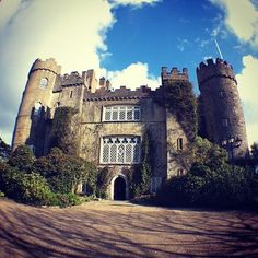 Malahide Castle in Ireland has expansive gardens full of rare flora from around the world. The castle tour is a must to learn about its history.