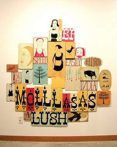 Margaret Kilgallen Molllasas + Lush (when street art meets folk) Collages, Margaret Kilgallen, Barry Mcgee, Art Postal, You Draw, Oeuvre D'art, My Idol, Hand Lettering, Book Art