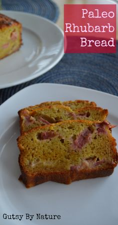 Paleo Rhubarb Bread (Grain Free, Dairy Free, Nut Free) - Gutsy By Nature