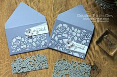 DIY video tutorial: How to make an envelope with Detailed Floral Thinlits Dies  ... for hand delivery or or inside enclosure ...